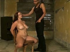 Young Redhead With Big Tits Gets Hogtied And Fucked By Bbc