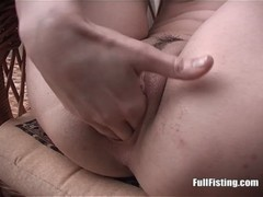 Pretty Redhead Kinky Teen Fisting Her Tight Pussy
