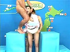 Japanese Reporter Fucked On Broadcast