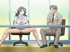 Anime Babe Slobbers On A Cartoon Cock
