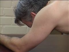 Older Stud Gets Ass Spanked And Fucked