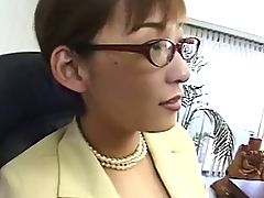 Japanese Lady Boss Horny At The Office By Packmans