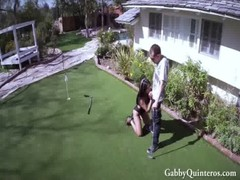 Latina Gets Banged On The Golf Course
