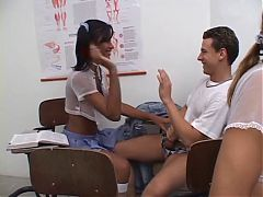 Tgirls Fuck And Give Head Their Young Teacher At School