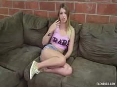 Hot Teen Bimbo Handjob