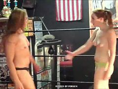 Topless Ring Wrestling