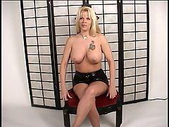Sexy Tattoed Blonde Whore Riding Pecker