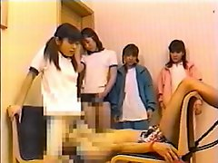 4 Japanese Schoolgirls And Their Oral Sex Slave Part 1