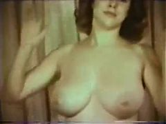 Vintage Big Bust Lady Posing