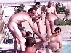 Naked American People Have Fun 1960s Vintage
