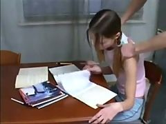 Brother Helps Not His Skinny Sister With Homework Daddi