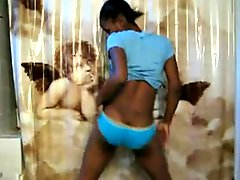 Black Girl Dances In The Bathroom
