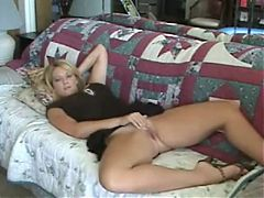 Horny Wife Masturbates For Her Man