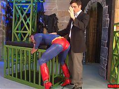 Superman Get's Used Ballbusting Wedgie Cosplay Handjob