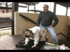 Young Girl Anal Fuck In The Train Station