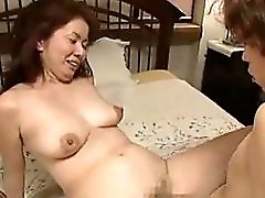 Japanese Mom Rides Boy
