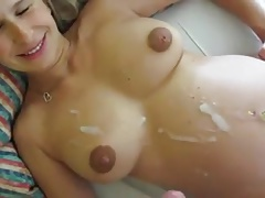 Pregnant Girl Fucks Her Hubby And Receives Huge Cumshot