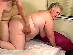Amateur Fat Granny Enjoys Cock