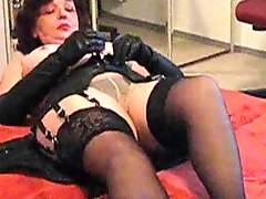 Inge With Stockings Over Pantyhose & Thong