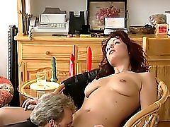 Redhead Milf Gets Fucked In Living Room