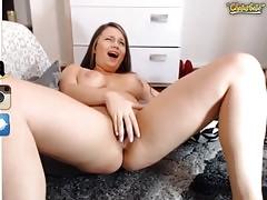 Sexy Cam Girl Ashlye Roberts Ohmibod Cum Show