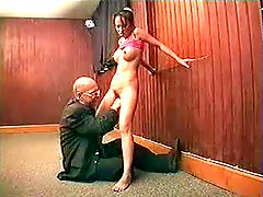 Young Girl & Grandpa Cum On Pussy